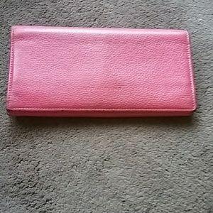 Longchamp pebbled leather Foulanne Wallet